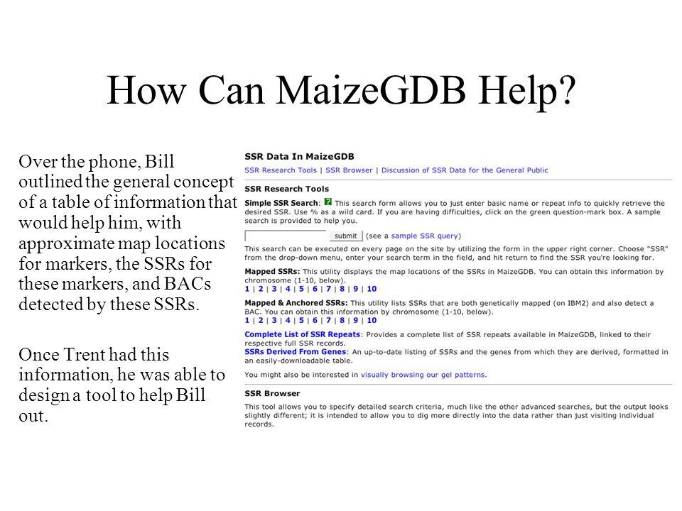 How Can MaizeGDB Help.