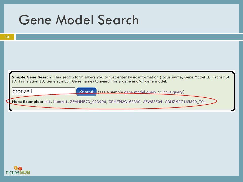 Gene Model Search 14