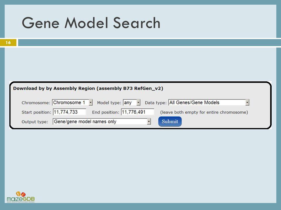 Gene Model Search 16