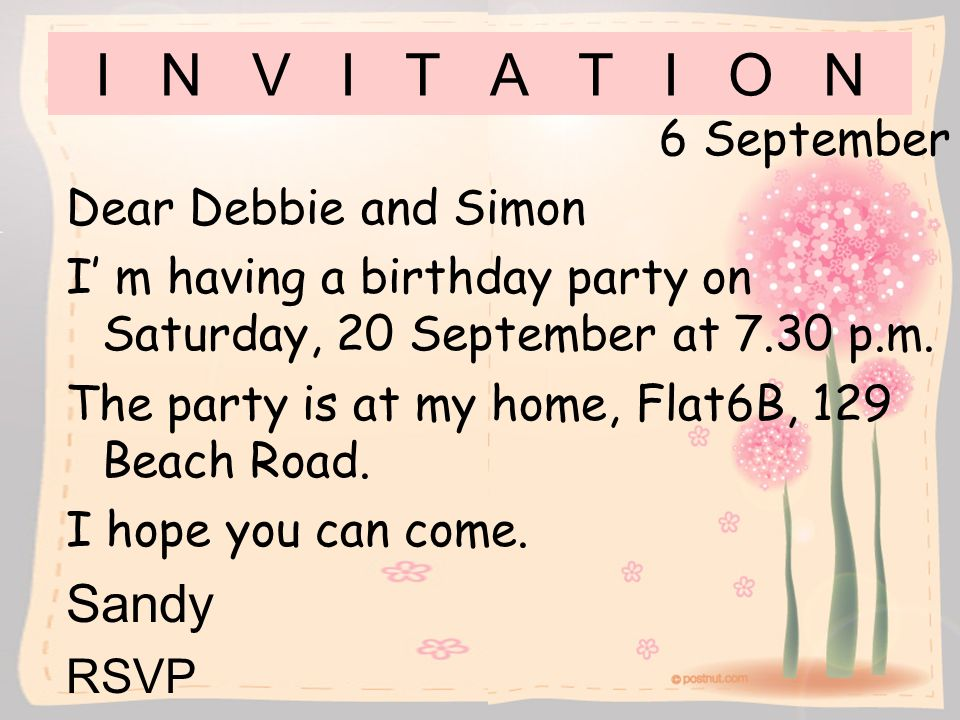Birth Day Party Invitation Letters Orderecigsjuiceinfo - Informal invitation letter to a birthday party