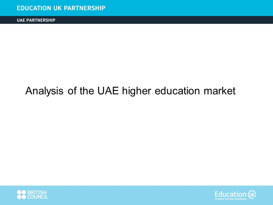 Analysis of the UAE higher education market