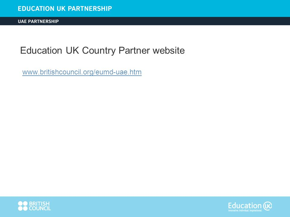 Education UK Country Partner website www.britishcouncil.org/eumd-uae.htm