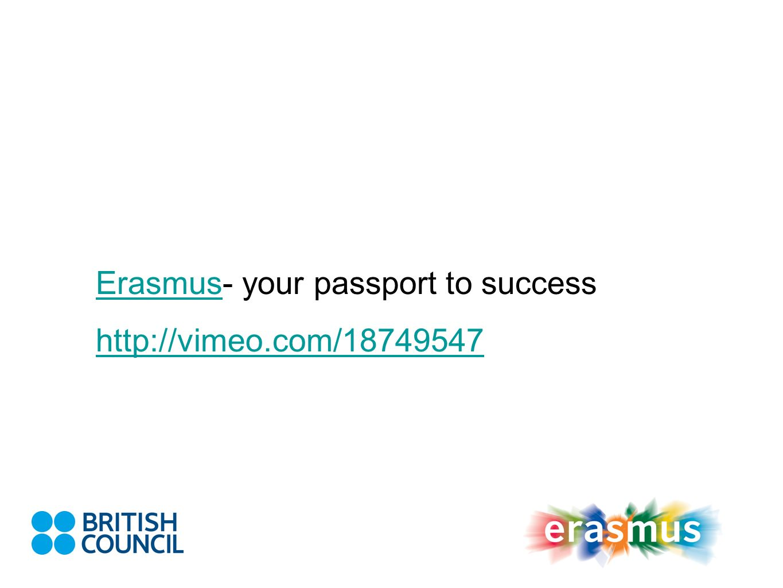 ErasmusErasmus- your passport to success http://vimeo.com/18749547