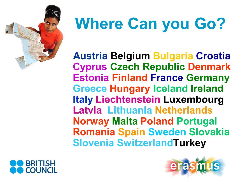 Where Can you Go? Austria Belgium Bulgaria Croatia Cyprus Czech Republic Denmark Estonia Finland France Germany Greece Hungary Iceland Ireland Italy L
