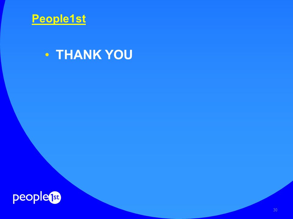 30 People1st THANK YOU