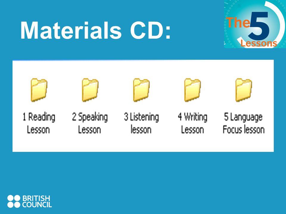 Materials CD: