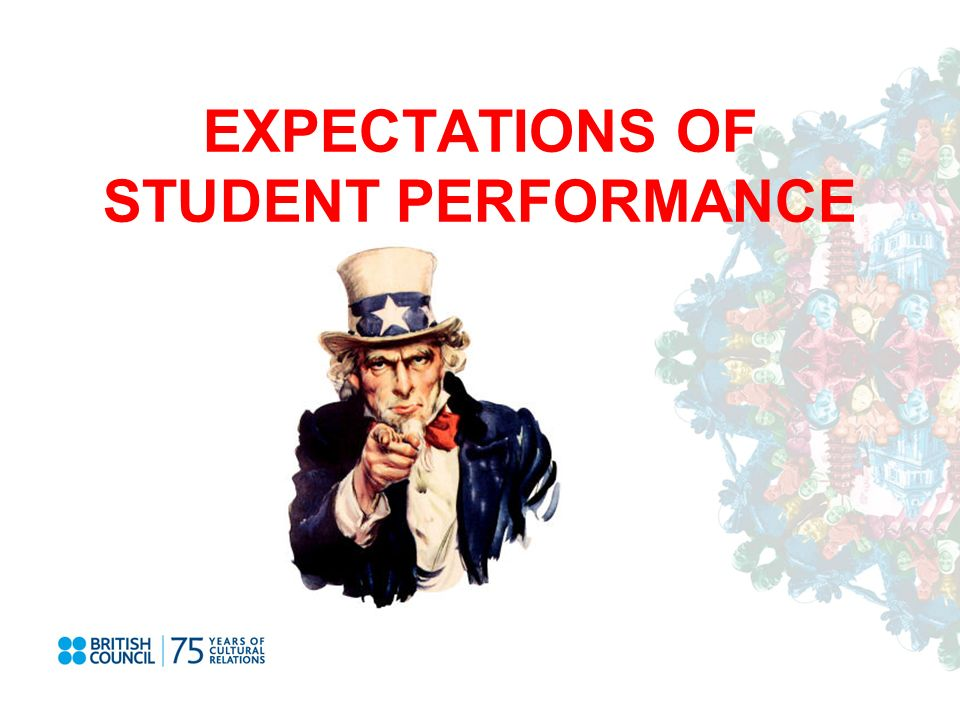 EXPECTATIONS OF STUDENT PERFORMANCE