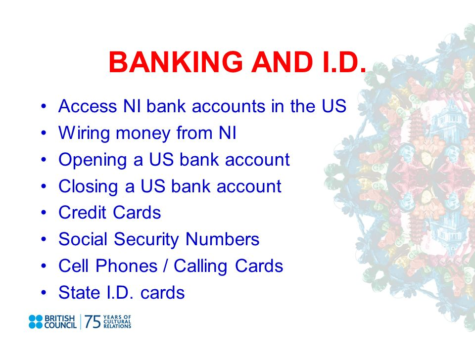 BANKING AND I.D.