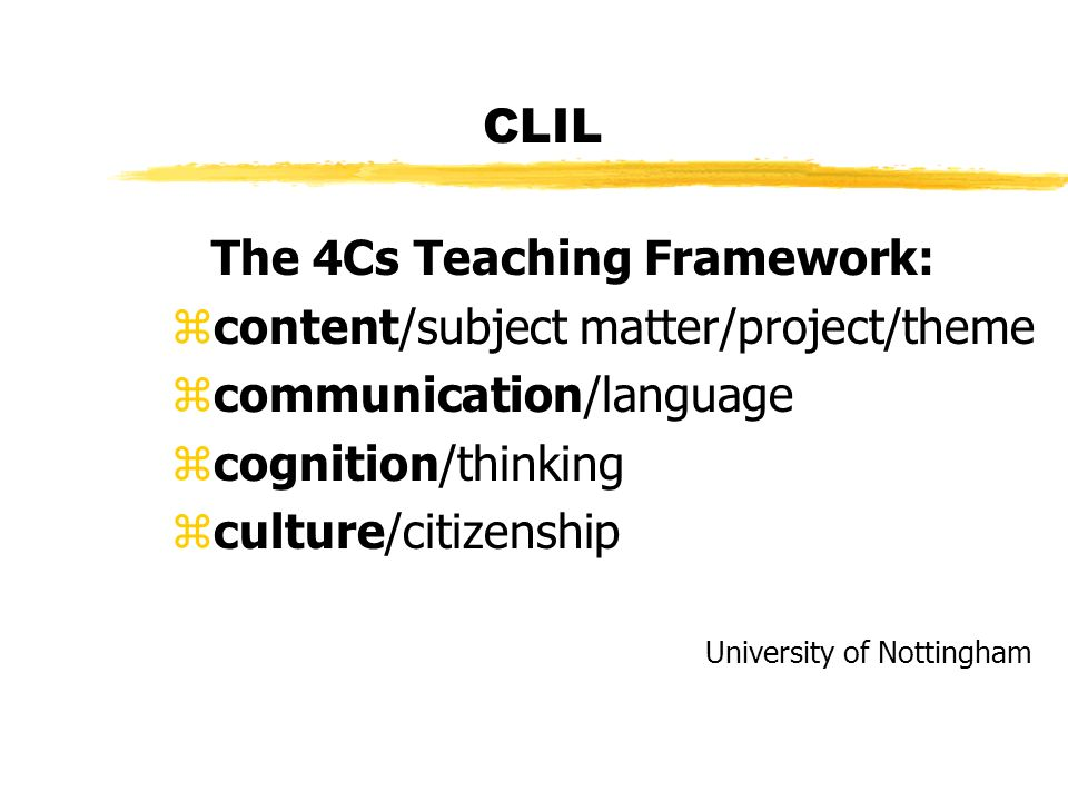 CLIL What is CLIL.What are the different CLIL models.