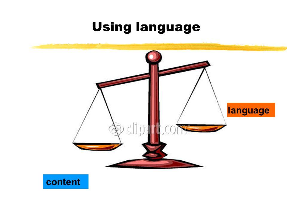 Using language content language