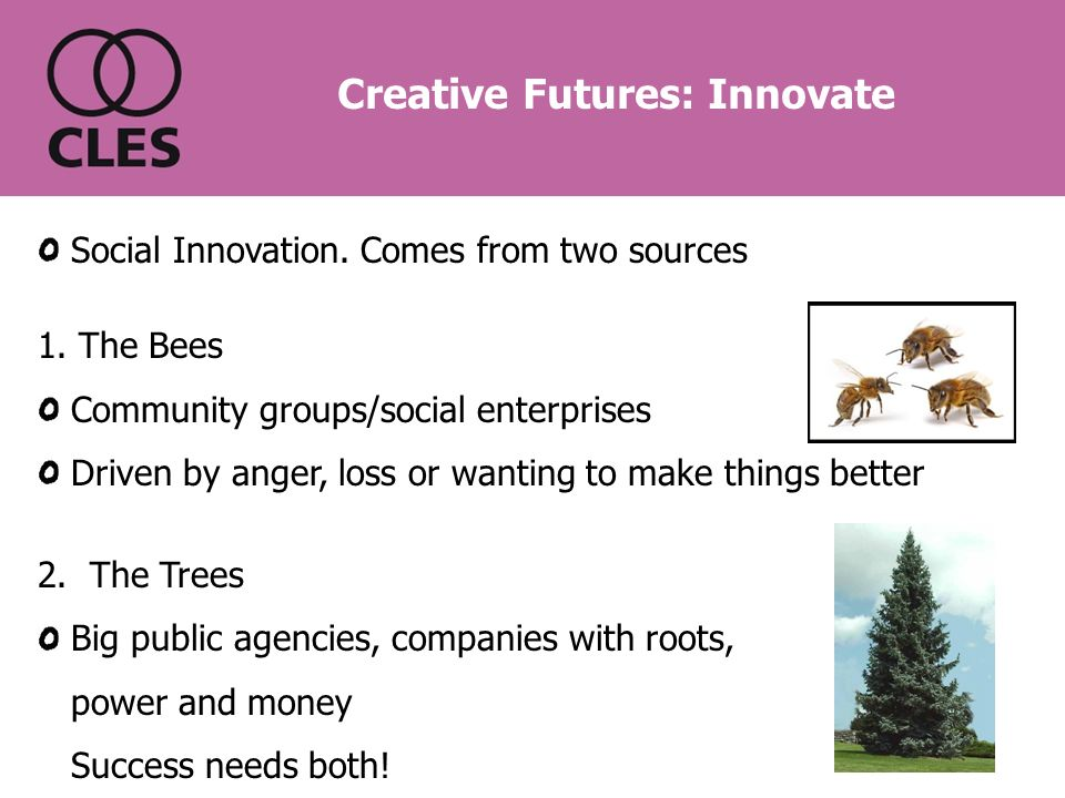 Social Innovation. Comes from two sources 1.