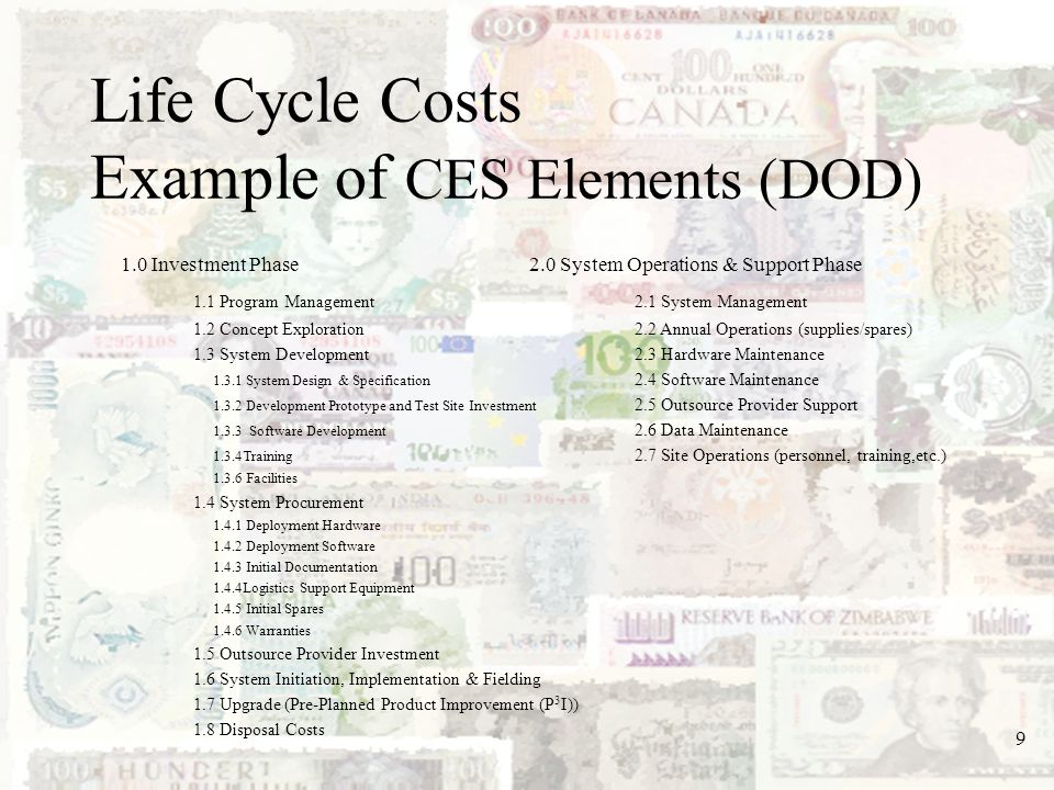 40 Methodologies Parametric CERs CERs are defined as a technique used to estimate a particular cost by using an established relationship with an independent variable.