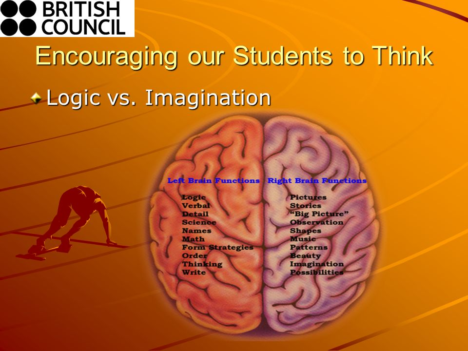 Encouraging our Students to Think Logic vs. Imagination