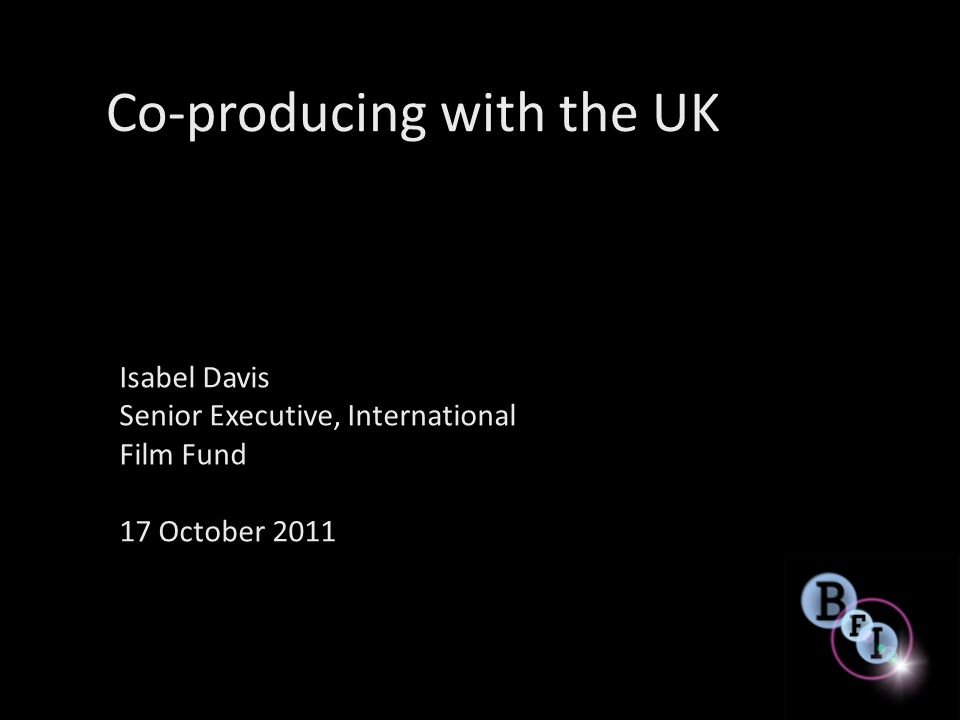 Why co-produce with the UK.
