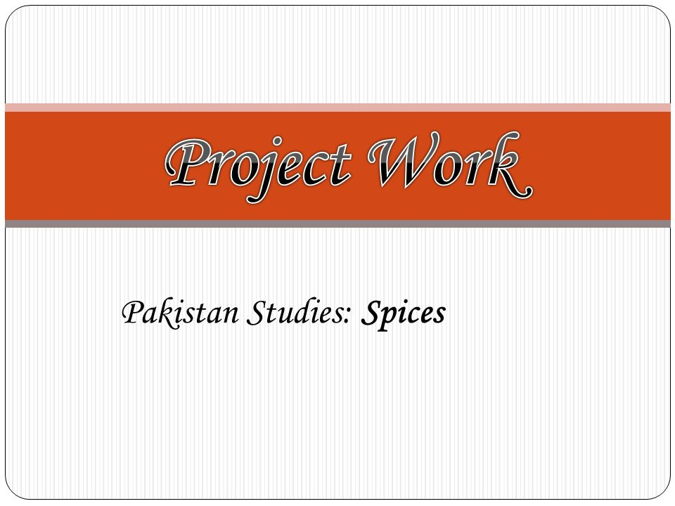 Pakistan Studies: Spices
