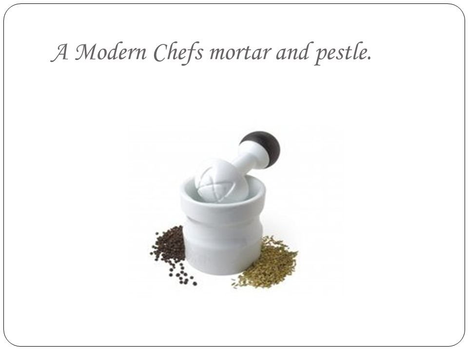 A Modern Chefs mortar and pestle.