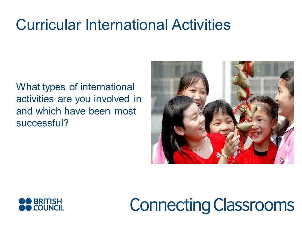 What types of international activities are you involved in and which have been most successful? Curricular International Activities