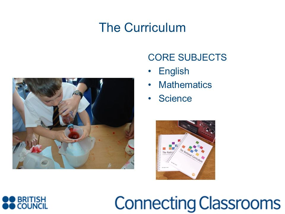 The Curriculum Art Geography History Music Design and Technology Information and Communications Technology Physical Education Religious Education Sex and Relationship Education Careers Education Citizenship
