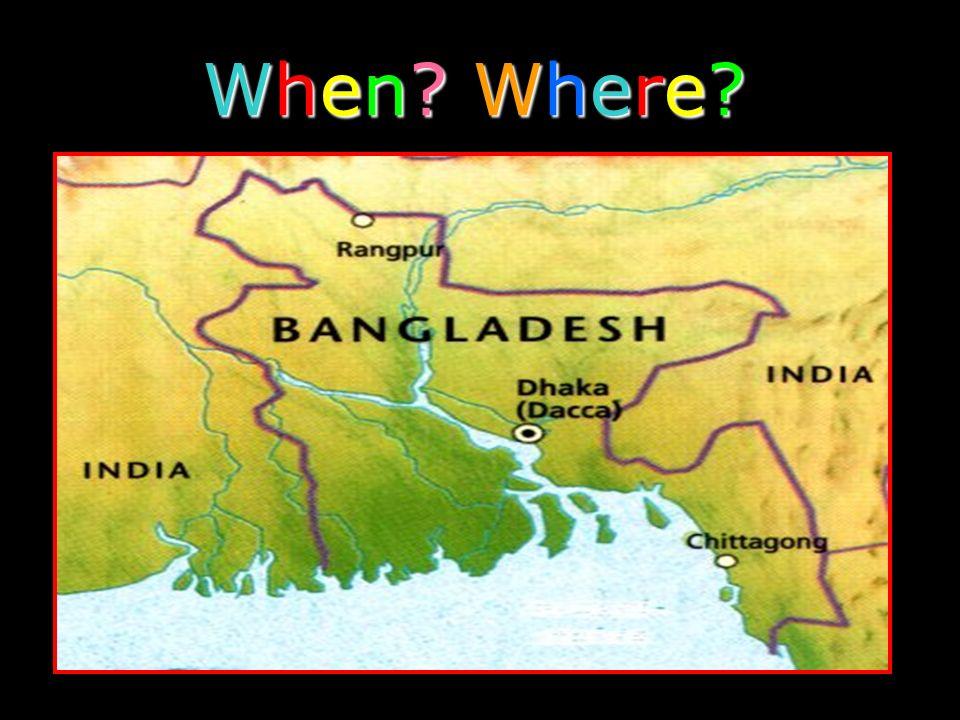 ...Bangladesh floods every year.