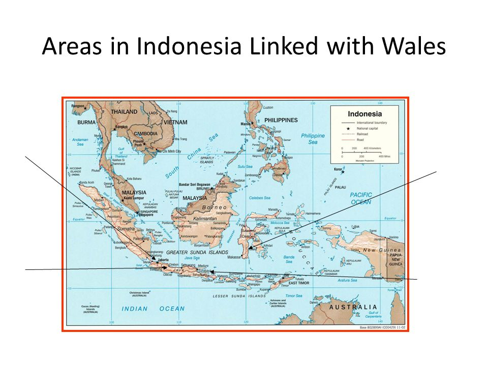 Areas in Indonesia Linked with Wales
