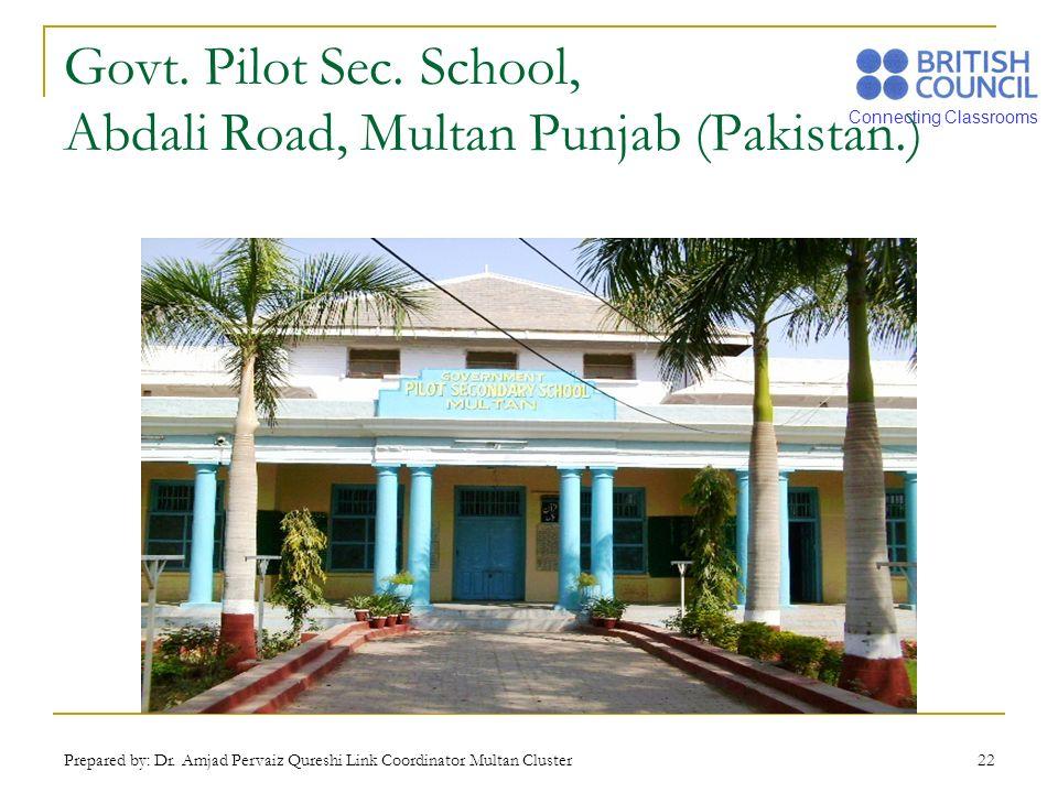 Connecting Classrooms Prepared by: Dr. Amjad Pervaiz Qureshi Link Coordinator Multan Cluster 22 Govt. Pilot Sec. School, Abdali Road, Multan Punjab (P