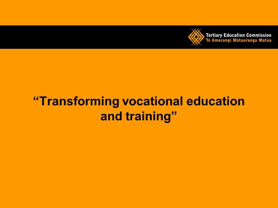 Transforming vocational education and training
