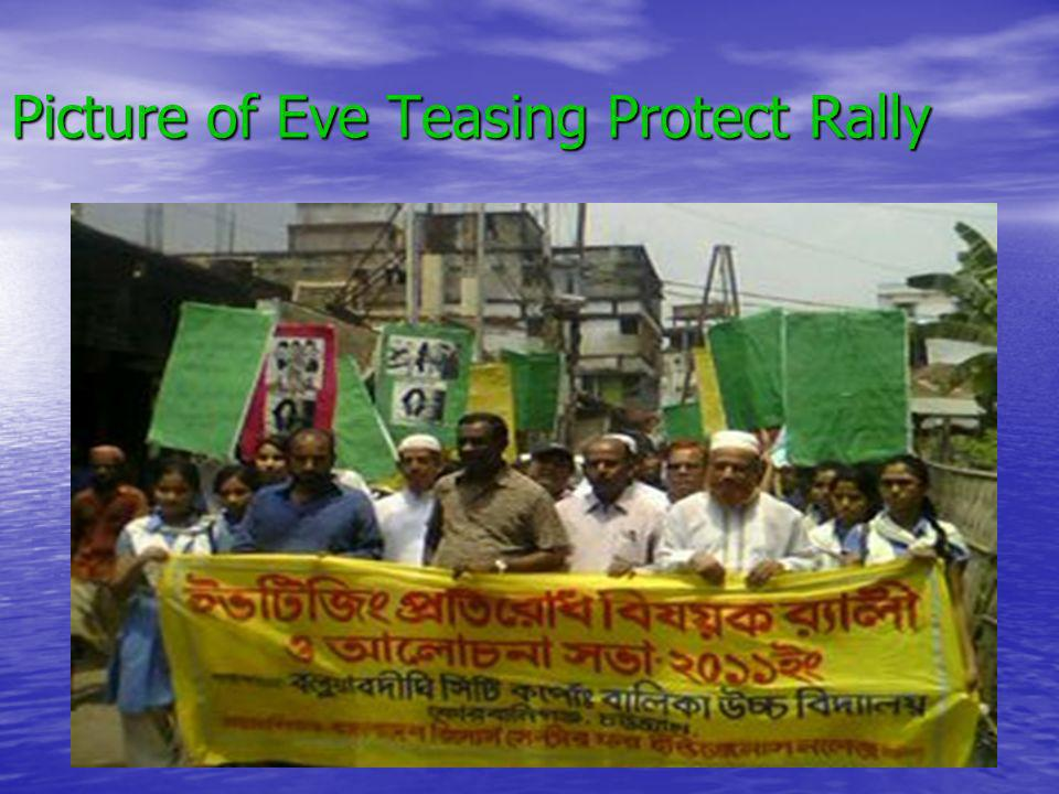Picture of Eve Teasing Protect Rally