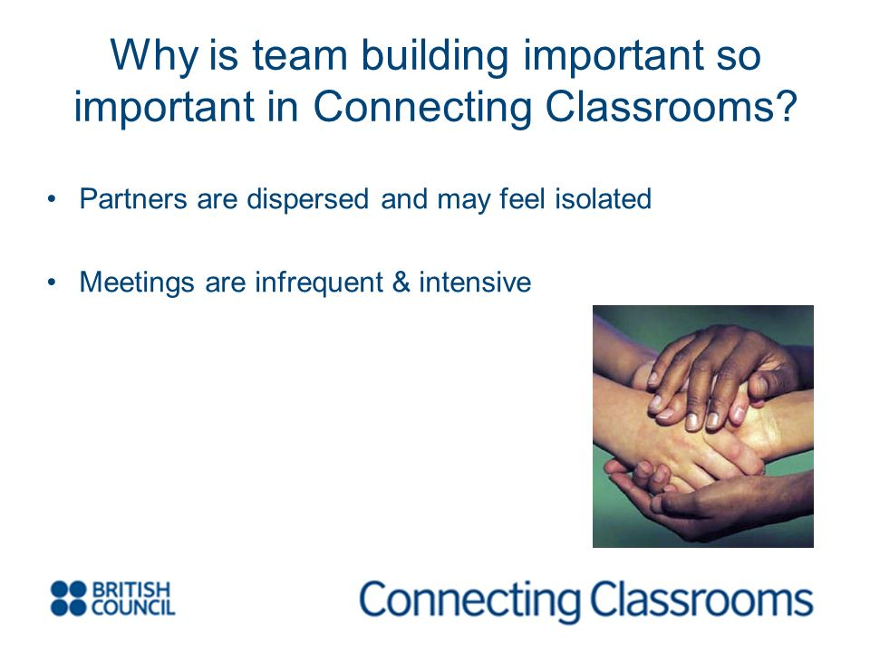 Why is team building important so important in Connecting Classrooms.