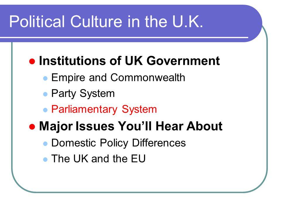 Political Culture in the U.K.