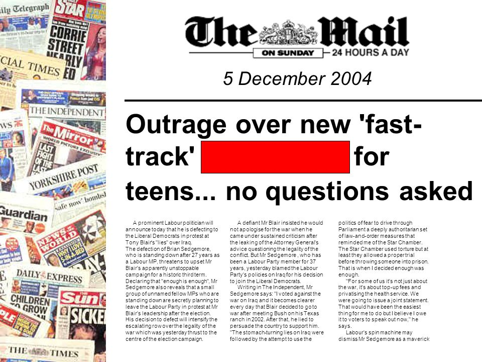 Outrage over new fast- track for teens...