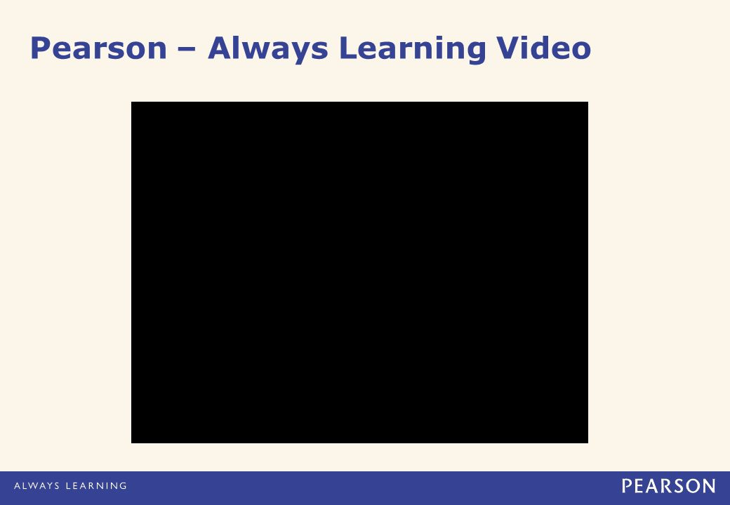 Pearson – Always Learning Video