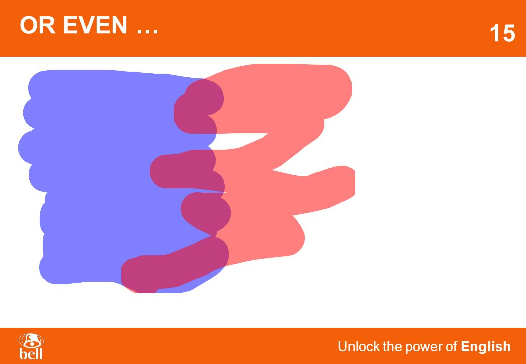 Unlock the power of English L 2 LEARNING IS MORE LIKE THIS? 14