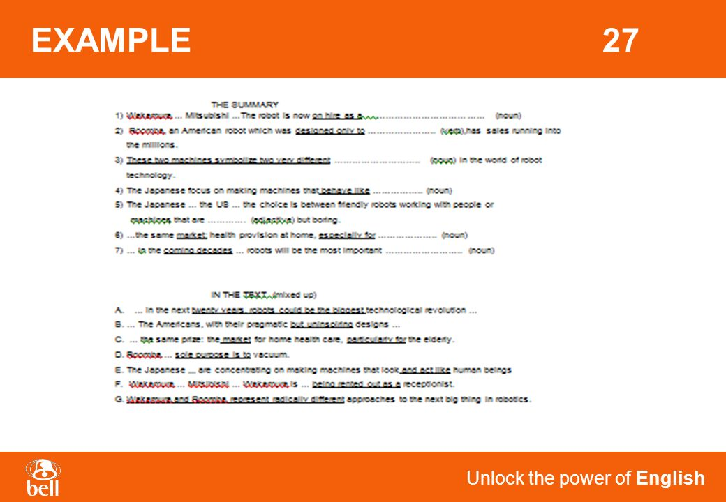 Unlock the power of English All thought is a form of translation 26 = mentalese L2a L2b L1c L1d