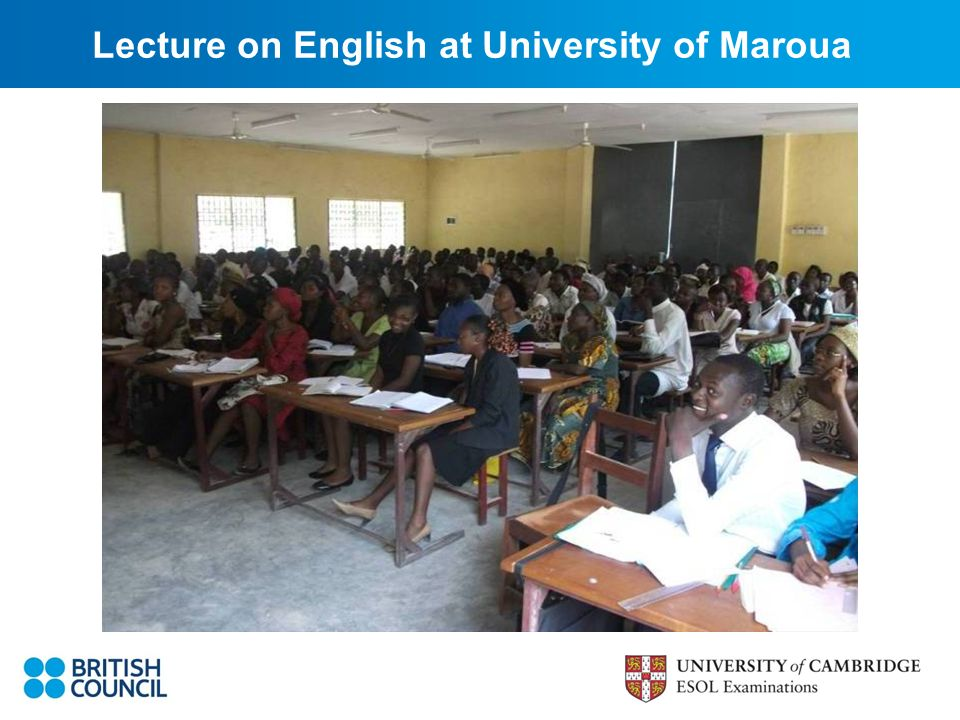 Lecture on English at University of Maroua