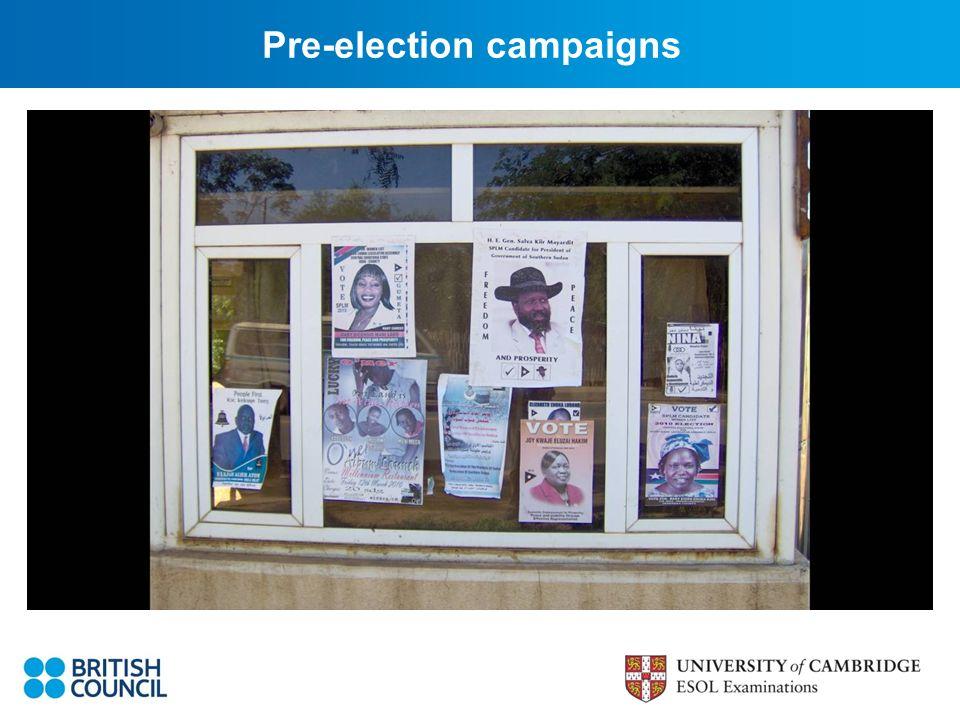 Pre-election campaigns