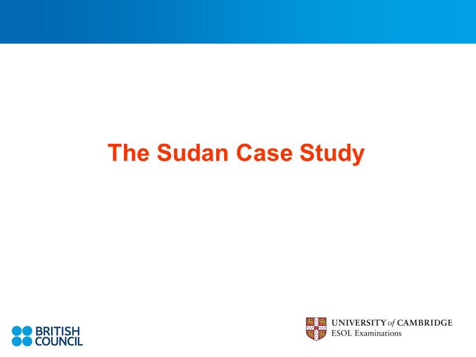 The Sudan Case Study