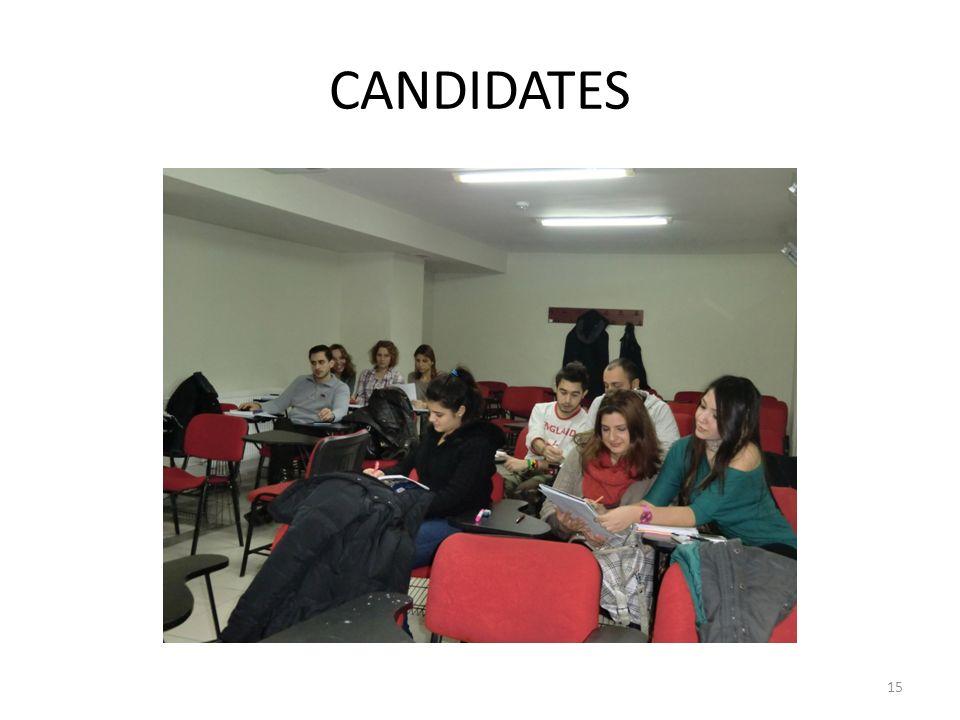 CANDIDATES 15