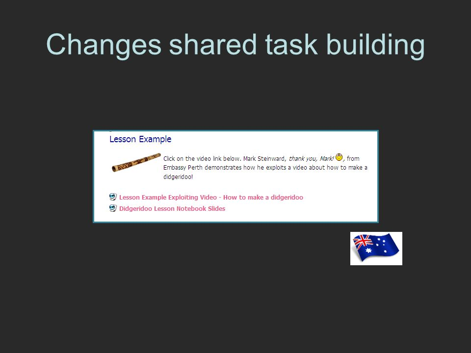 Changes shared task building