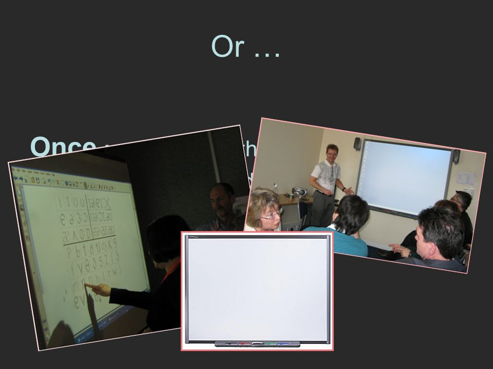 Or … Once upon a time, there were lots of teachers who wanted to learn how to use interactive whiteboards and Moodle so this is the story of how we trained them ….