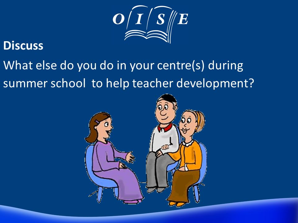 Teacher Development Induction with sessions for development. Lesson Plan Pack Website with materials and guidance Developmental Observation Peer Obser