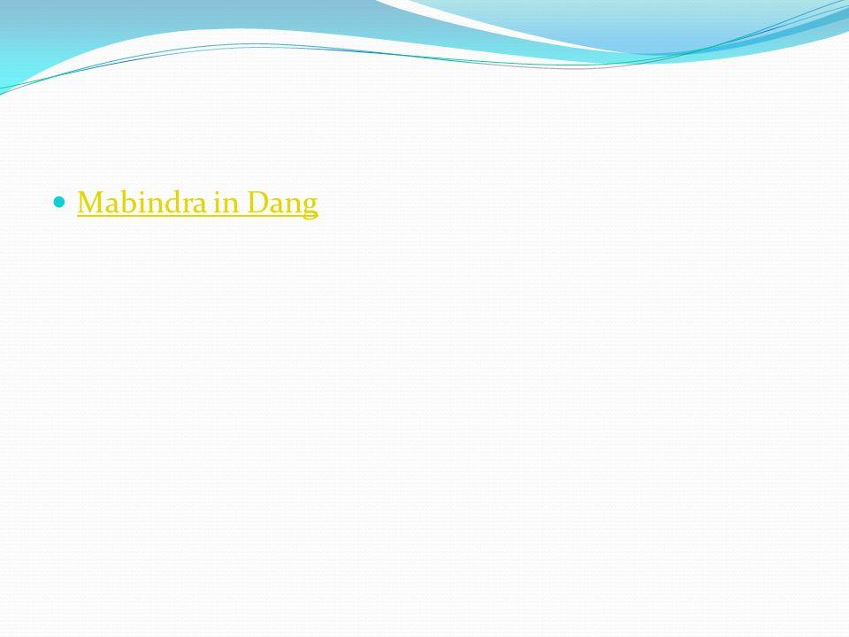 Mabindra in Dang
