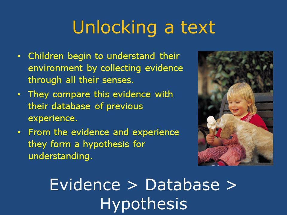 Learners take evidence from a text text evidence understanding text Learners bring understanding to a text