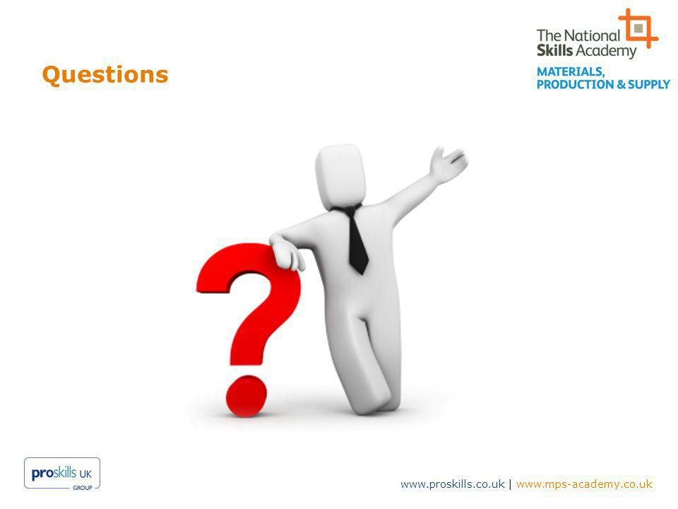 www.proskills.co.uk | www.mps-academy.co.uk Questions