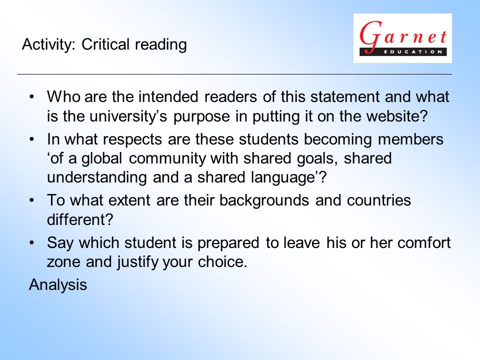 Who are the intended readers of this statement and what is the universitys purpose in putting it on the website? In what respects are these students b