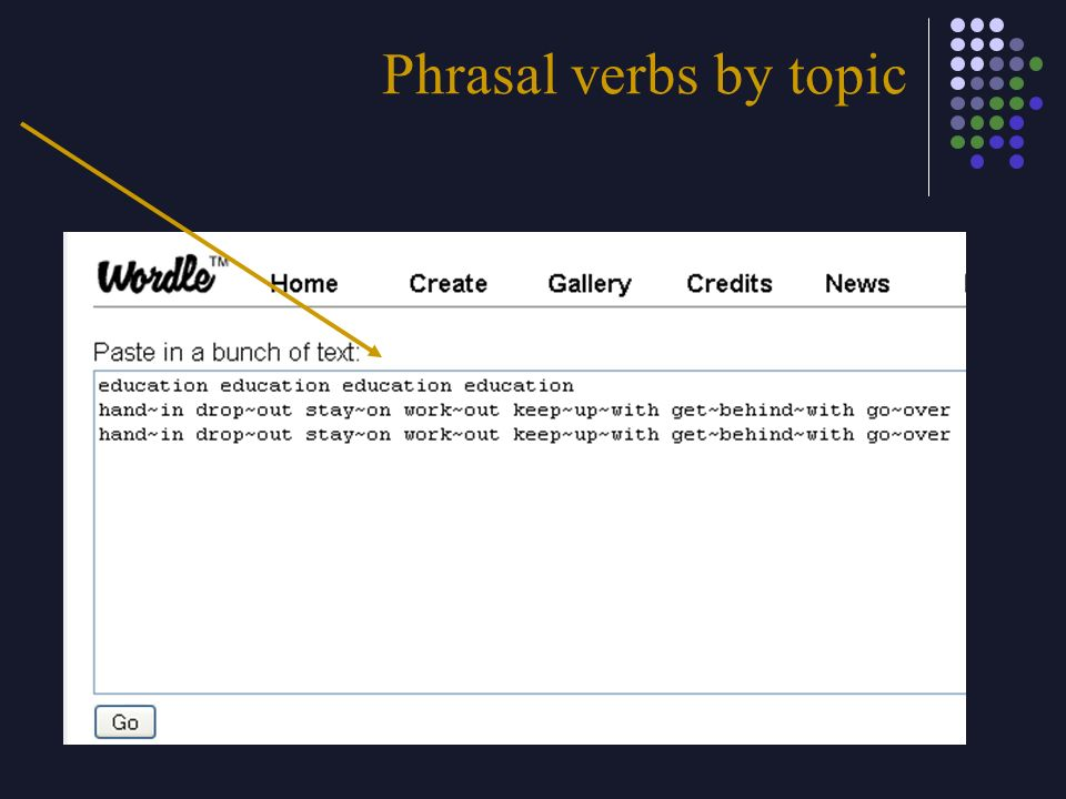 Phrasal verbs by topic