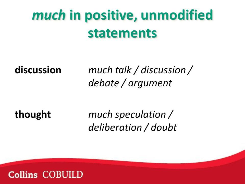 discussionmuch talk / discussion / debate / argument thought much speculation / deliberation / doubt
