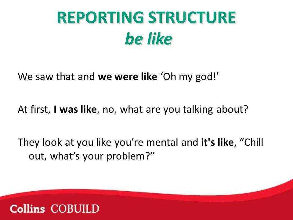 REPORTING STRUCTURE be like We saw that and we were like Oh my god.