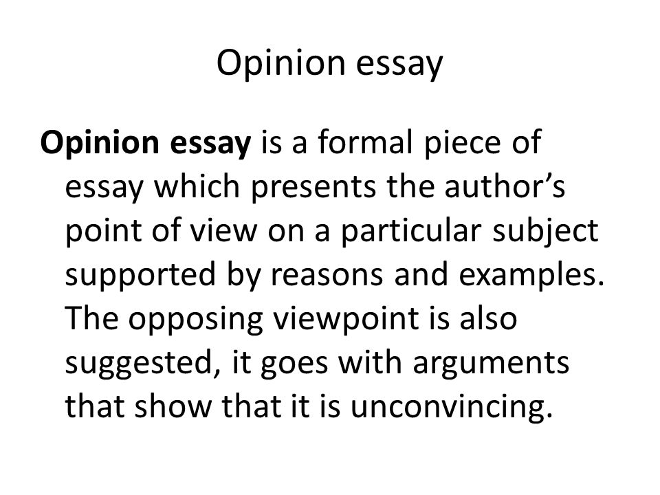 Writing an essay on the authors point of view need help!?