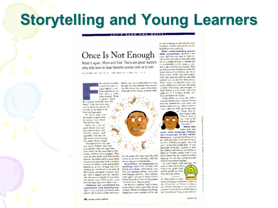 Storytelling and Young Learners