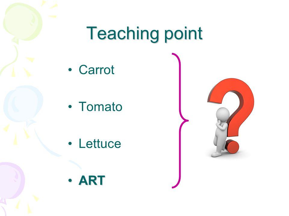 Teaching point Carrot Tomato Lettuce ARTART